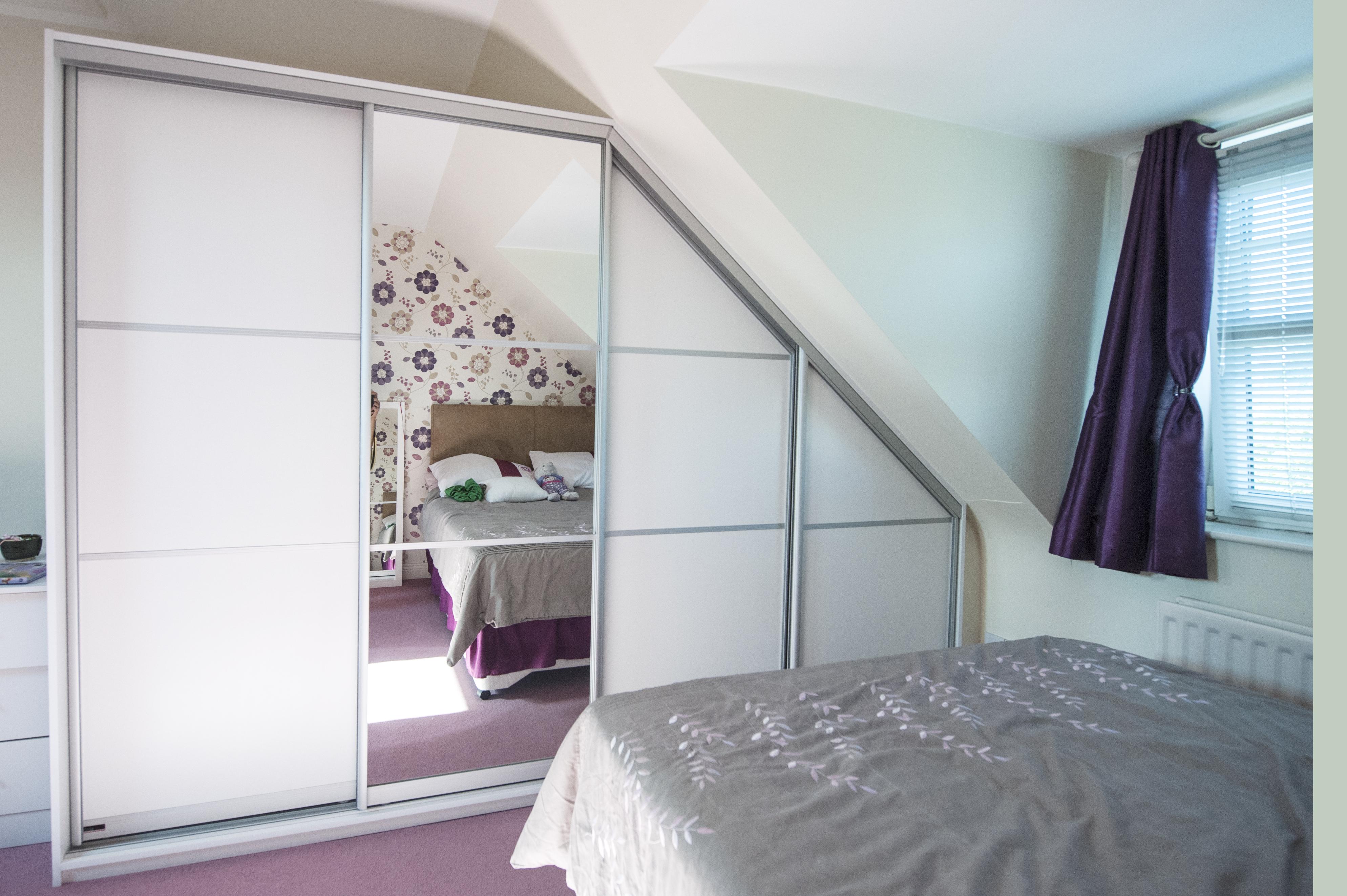 Sloped Ceiling Bedroom Rooms With Sloped Ceiling Slide In Style Sliding Wardrobes